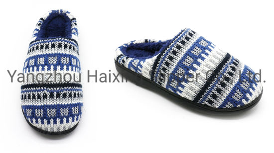 Factory Price Home Winter Sheepskin Slippers for Men Winter Indoor Slippers
