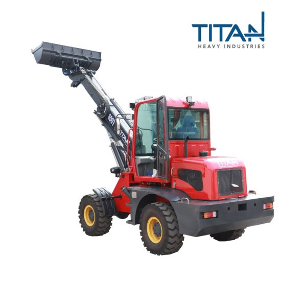 Titanhi telescopic loaders for 1.6 tons can install different accessories like snow blade,grass cutter