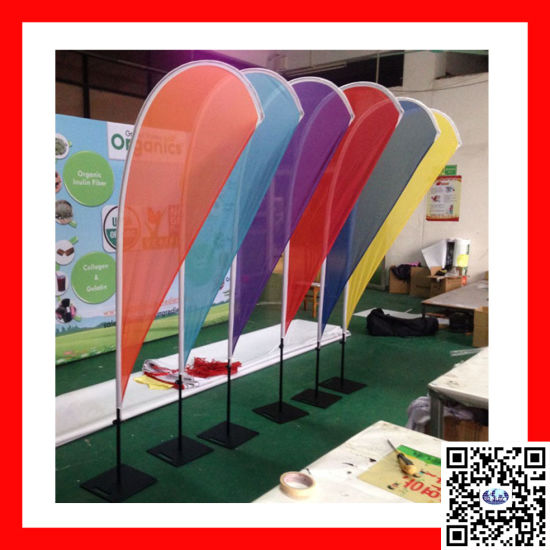 Outdoor Aluminum Pole Flag Teardrop/ Feather Flying Beach Flag Banner (BN-23) pictures & photos