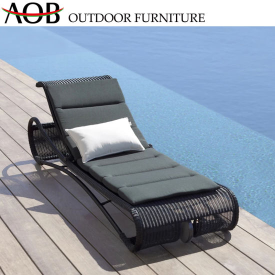 Awesome Chinese Modern Outdoor Garden Patio Home Hotel Furniture Beach Lounge Chair Bed Rope Woven Daybed Sunbed Theyellowbook Wood Chair Design Ideas Theyellowbookinfo