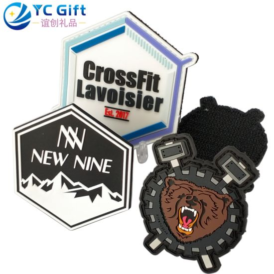 Custom Personalized Garment Accessories Woven Badge Fashion Shoes Hang Tag Sticker Cartoon Lion PVC Rubber Clothing Label Name Patches with Design Your Logo
