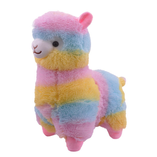 Hot Sale Festival Gifts Stuffed Rainbow Alpaca Peluches Llama Baby Plush toys
