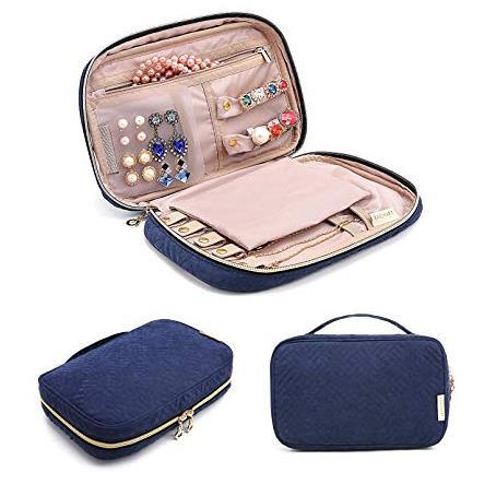 Travel Jewelry Storage Cases Jewelry Organizer Bag for Necklace Earrings Rings Bracelet