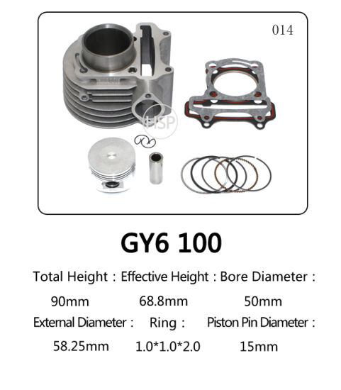 High Quality Motorcycle Parts Cylinder Block Kit for Honda GY6 100