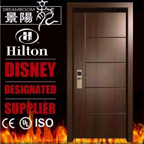 1 Hour Wh En1634 / UL Listed Hotel Room Wood Fire Proof Door