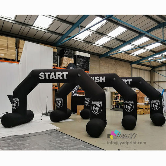 outdoor event display print rainbow waterproof durable start welcome finish gate race display sport air inflatable arches, inflatable advertising