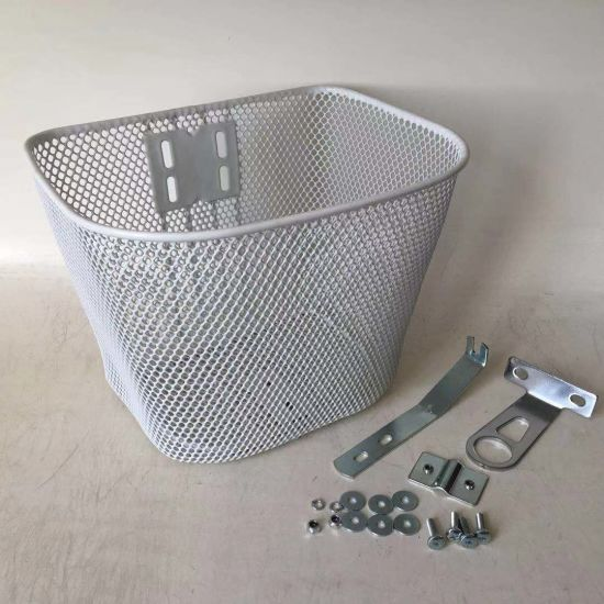 Front Steel and Mesh Bicycle Basket of Bicycle Parts