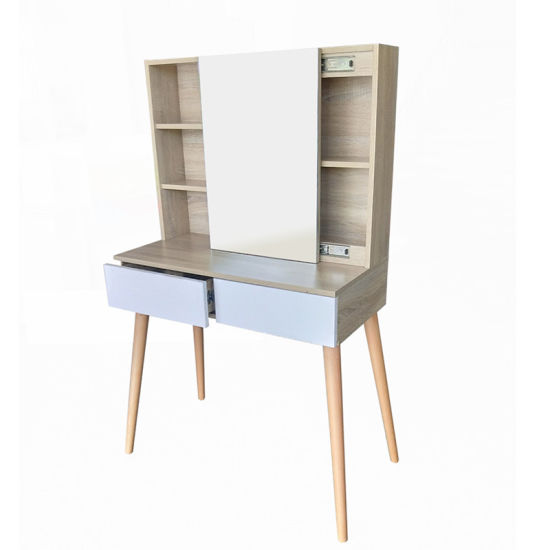 Modern Dressing Table Wooden Dresser with Mirror