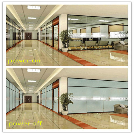 Liquid Crystal Switchable Building Decorative Window Laminated Tempered Smart Intelligent Privacy Glass