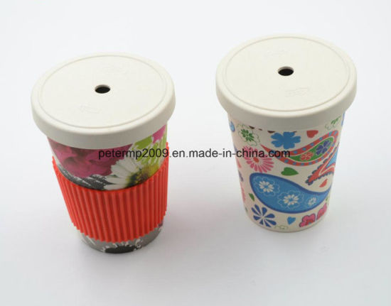 Bamboo Fiber Cup Drink Cup with Straw Cup with Lid pictures & photos