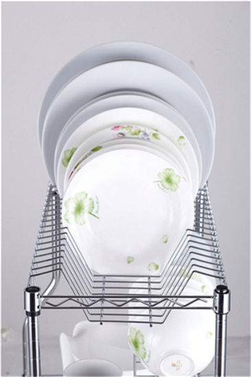 Adjustable Chrome Metal Kitchen Dish Drainer Rack pictures & photos