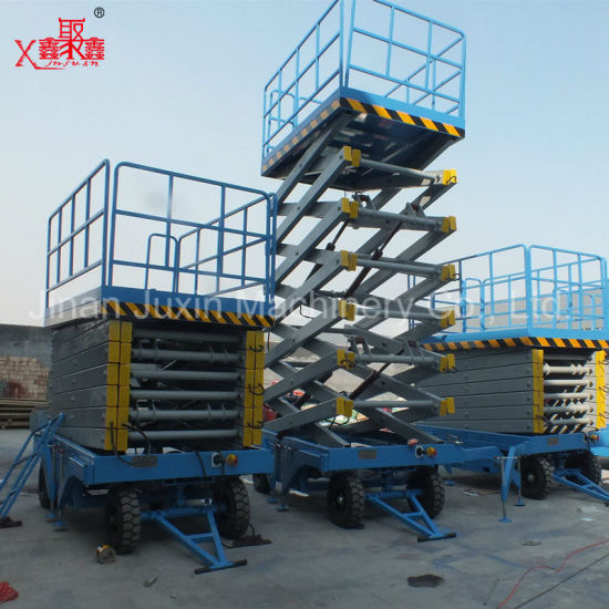 300kg 500kg Custom Design Hot Sale Hydraulic Mobile Ladder Scissor Lift Table Platform with Ce ISO Certification
