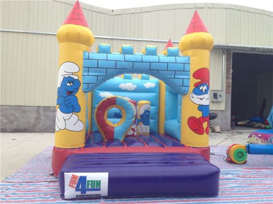 New Arrival Smurfirs Inflatable Mini Bouncy House for Sale pictures & photos
