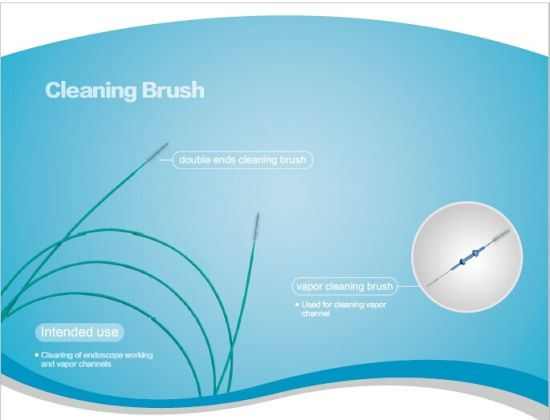 Disposable Double Ended Cleaning Brush for Endoscopic Channel
