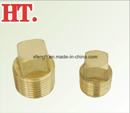 Female Thread Square Head Brass Pipe Plug Fitting pictures & photos
