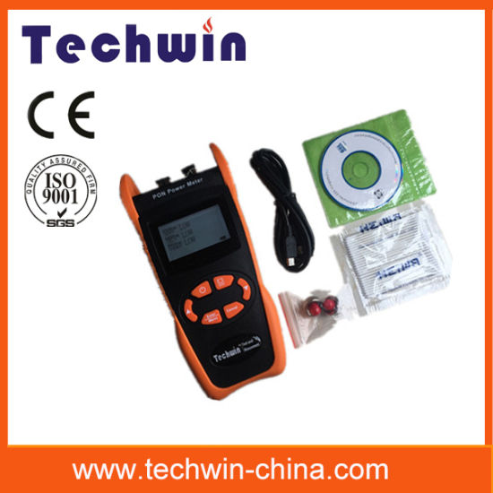 Techwin Tw3212e New Handheld Fiber Optic Test Equipment Aims at The FTTX Application and Maintenance pictures & photos