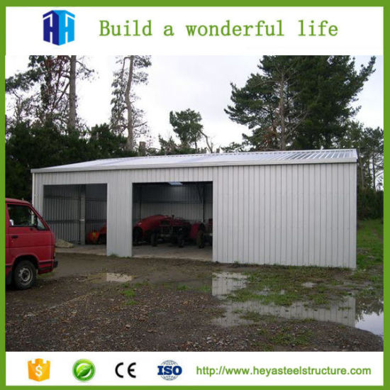 Beautiful Low Cost Factory Workshop Steel Structure Building Car Garage Design