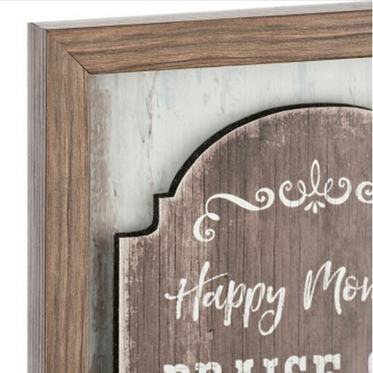 China Wood Glass Home Decor Signs Thank God Framed Shadowbox China Rustic Wooden Sign And Coffee Shop Signs Price