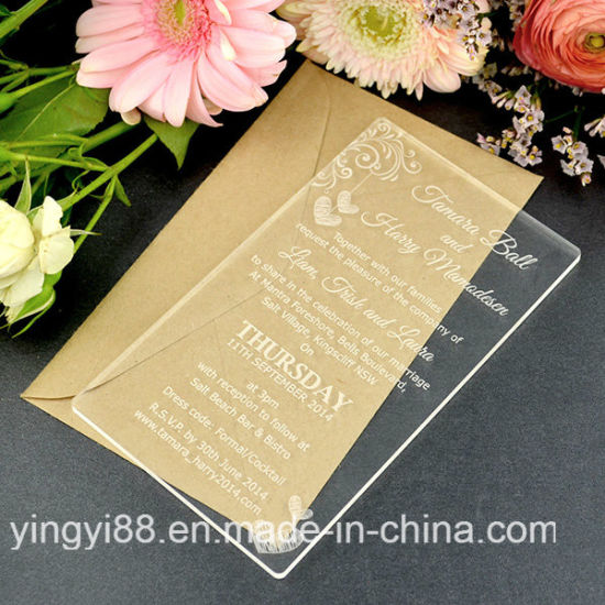 New Wedding Invitation Engraved Acrylic 11b Guest Names