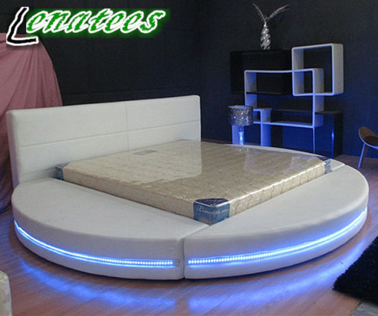 round bed furniture. A542 Round Bed Furniture With LED Light Round Bed Furniture