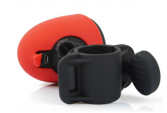 Waterproof Outdoor Bicycle Riding Hiking Wireless Bluetooth Speaker With LED Red