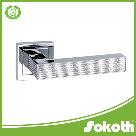 China Zinc Alloy High Quality Door Handle Sokoth Diamond Door Lock