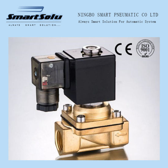 PU Series Direct Acting Normally Closed Brass Material Solenoid Valve