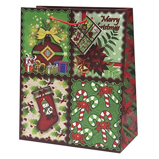 Whole Oem Christmas Gift Bags Medium Bulk Assortment With Handles And Tags For Wring Holiday Gifts Ab19