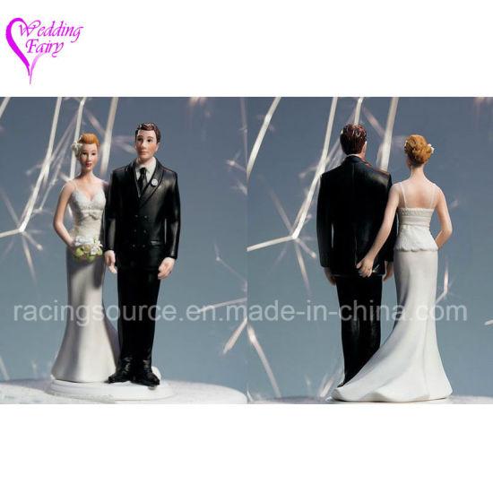 The Love Pinch Caucasian Wedding Cake Topper Figurine