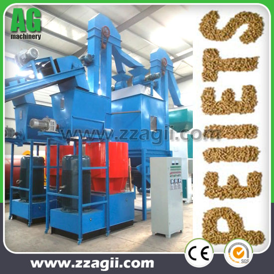 China Biomass Fuel Wood Shavings Pellet Production Line for