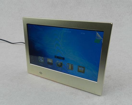 Ultrathin Metal Case Digital Photo Frame Support 720p Video Loop Play