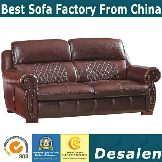 China America Style Best Quality Home Furniture Leather Sofa (A54 ...