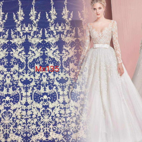 Wedding Factory Direct.Factory Direct Sale Fancy Lace Fabric For Elegant Wedding Dress And Bridal Dress