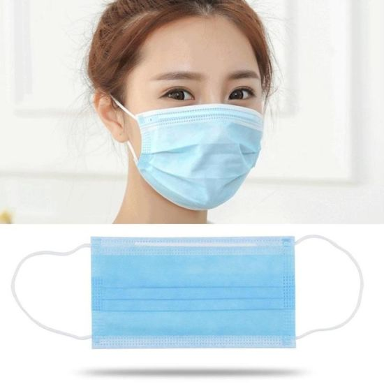 3 Ply Disposable Disposable Face Mask Non-Woven Earloops Facemasks