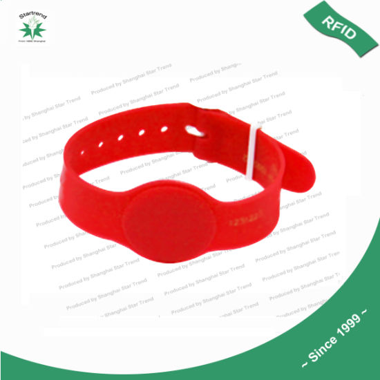 125kHz/13.56MHz RFID PVC Bracelet NFC/RFID Wristband Specially for Entrance Ticket