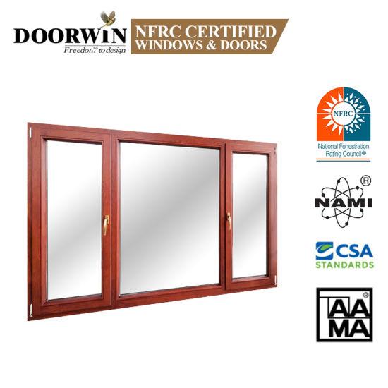 Luxurious Window Wooden Aluminum Tilt&Turn Fenster New Design Tilt and Turn Inward Opening Oak Wood Casement Windows Manufacture