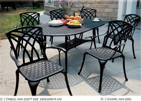 Modern Cast Aluminum Outdoor Furniture Outdoor Dining Table Garden Table pictures & photos