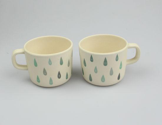 90706a13906 80ml Eco Friendly Bamboo Fiber Custom Design Milk Cup with Handle