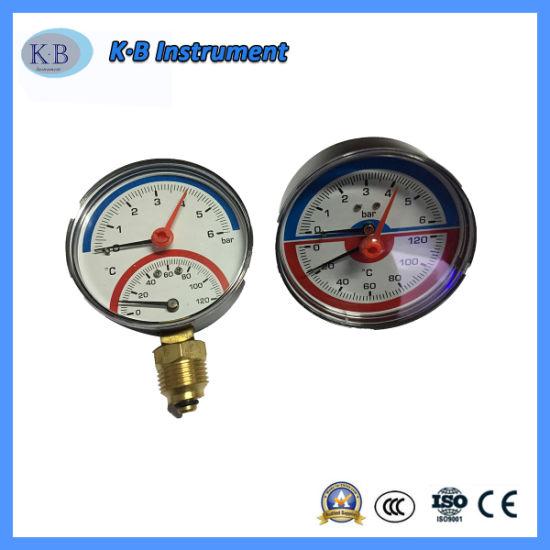 Bimetal Dial Hot Water High Temperature Measuring Pipeline Pressure Gauge Thermometer