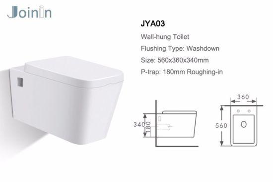 Sanitary Ware Bathroom Water Closet Ceramic Wc Wall Hung Toilet