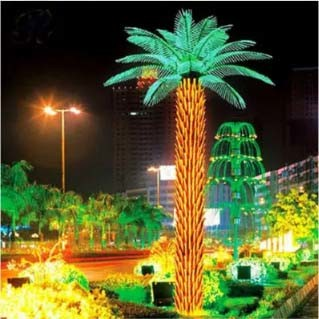 Home Garden Decorative550cm Height Outdoor Artificial Green Flashing Artificial Coconut Palm Tree pictures & photos