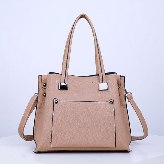 Simple Style PU Leather Lady Handbag Women Tote Bag Sh912