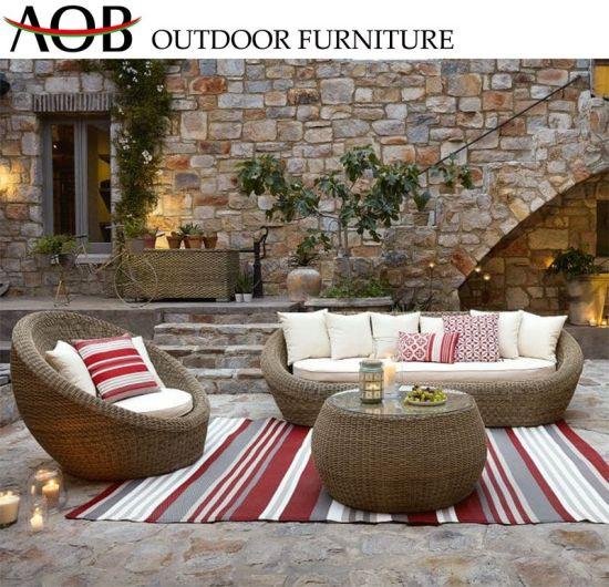 Contemporary Outdoor Garden Hotel Furniture Rattan Wicker Outdoor Patio Leisure Couch Sofa Set