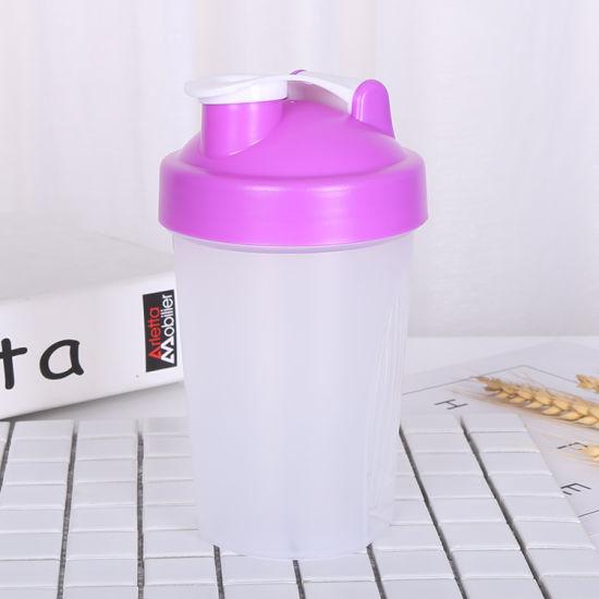 600ml BPA Free Plastic Protein Shaker Water Bottle Blenderbottle