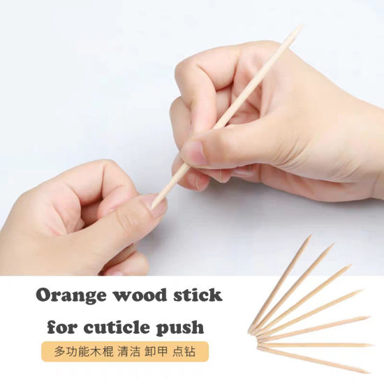 Wood Stick Cuticle Pusher Remover Pedicure Nail Art Tool pictures & photos