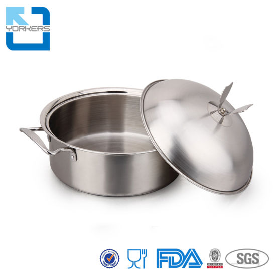 High Quality Thick Compound Bottom Stock Pot Cooking Stainless Steel Soup Pot