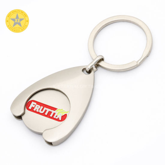 Low Price Great Quality Metal Shopping Supermarket Trolley Enamel Metal Keyholder Lock Coin