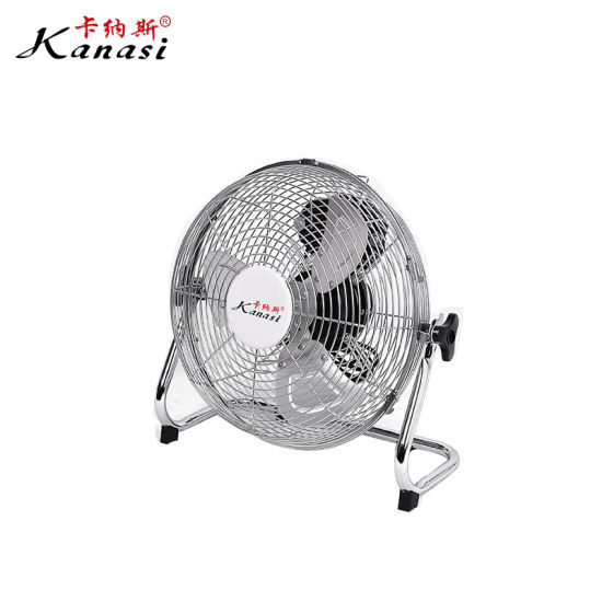 Powder Coating Industrial Floor Fan 12 Inch with Metal blade