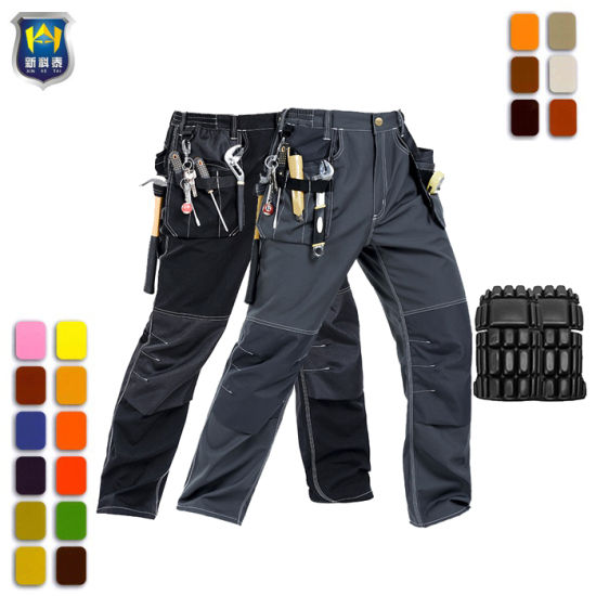 Multi Pockets Cargo Trousers Durable Mens Work Pants