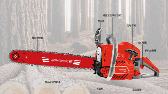 Gasoline Chain Saw CT5800 High Quality Sharp Cutting